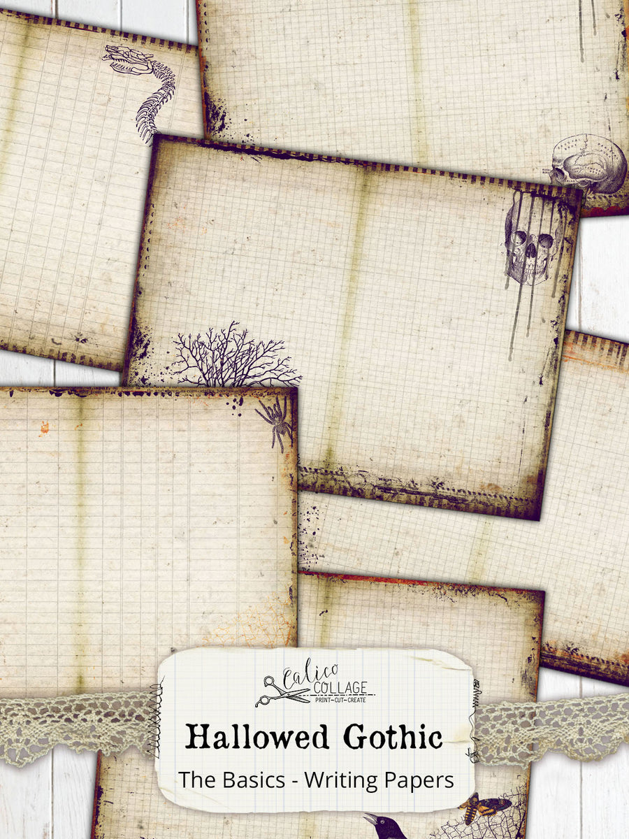 Hallowed Gothic Printable Junk Journal Pages