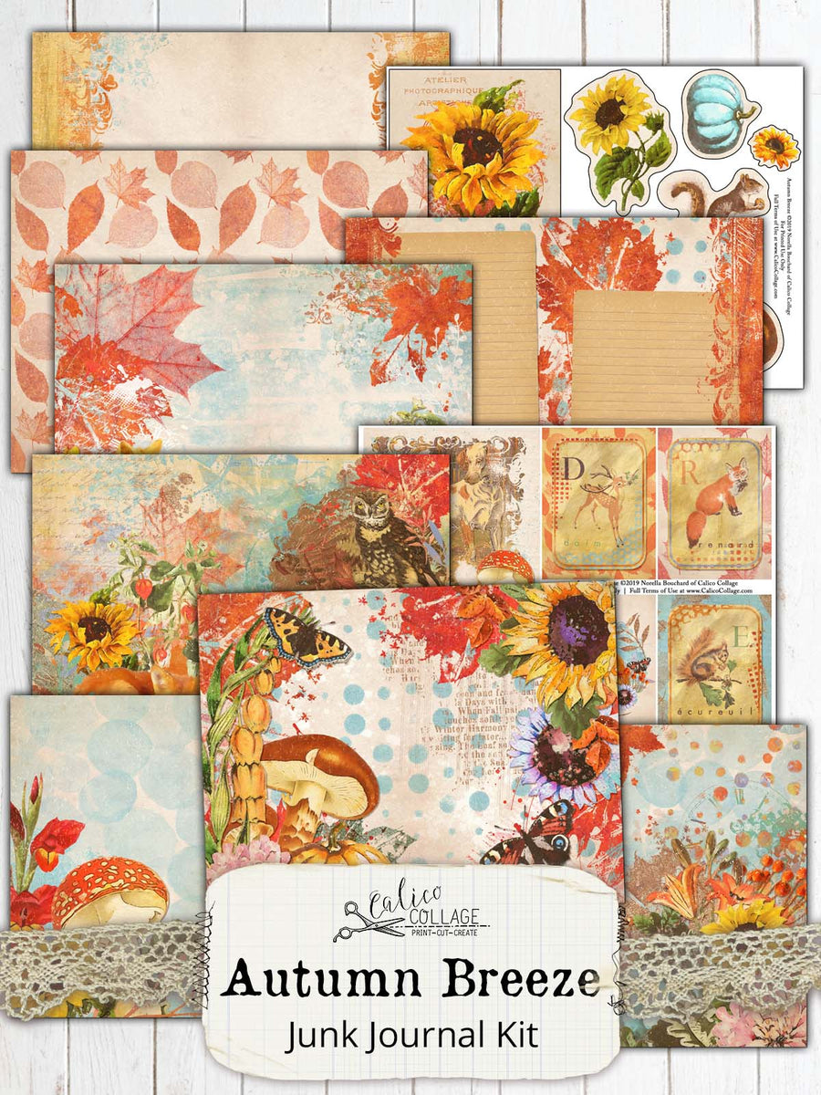 Autumn Breeze Printable Journal Kit
