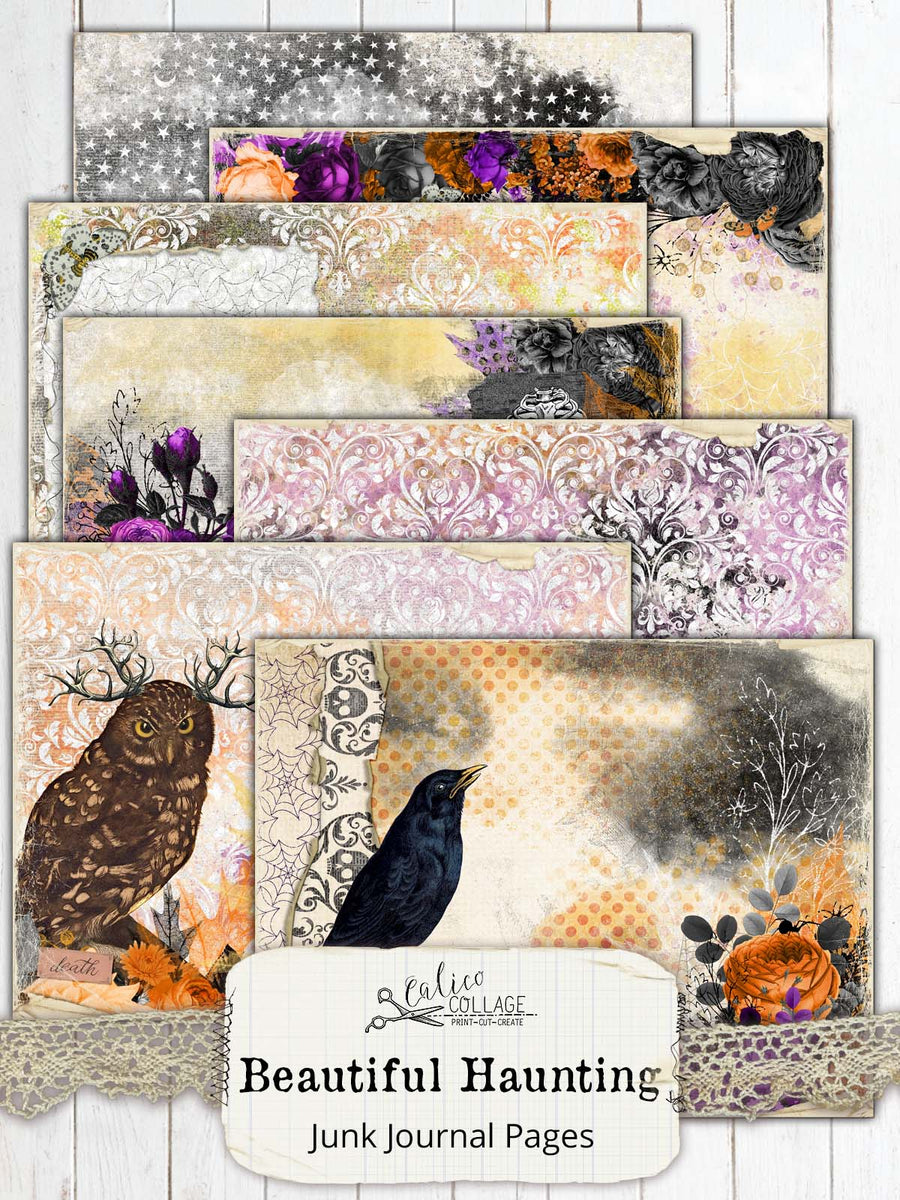 Beautiful Haunting Junk Journal Papers