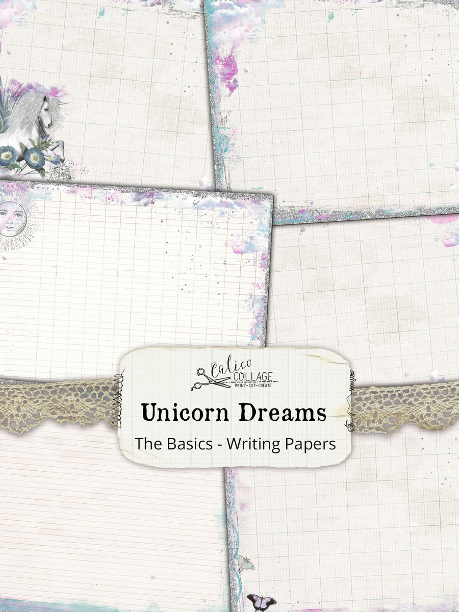 Junk Journal Journaling Pages, Unicorn Dreams