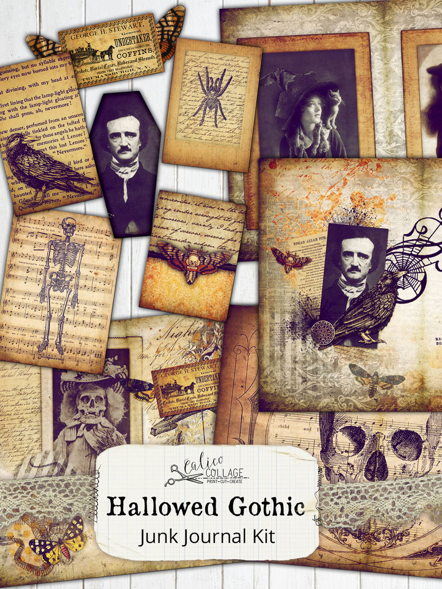 Hallowed Gothic Printable Journal Kit