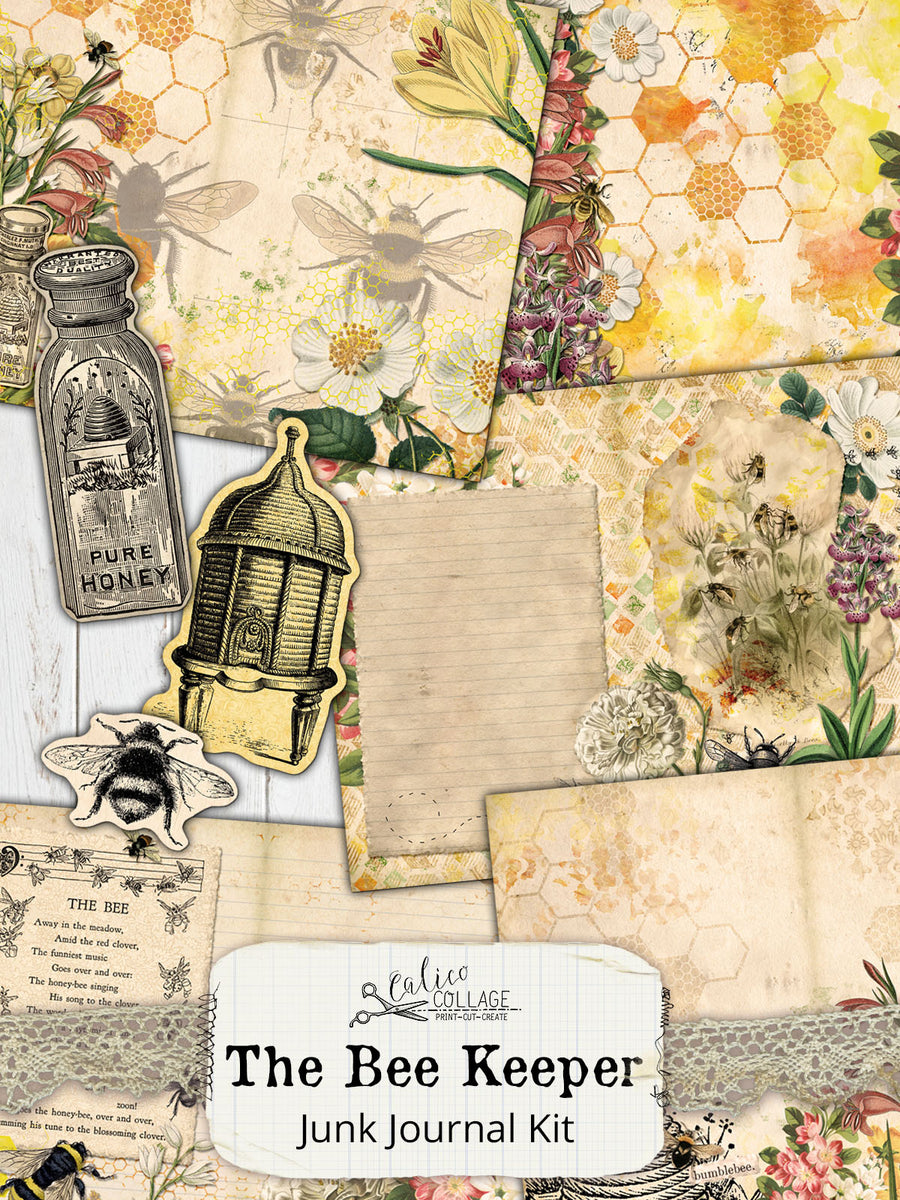 The Bee Keeper Printable Journal Kit
