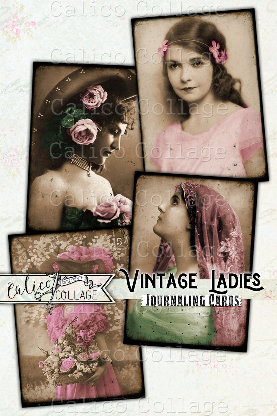 Vintage Ladies Printable Junk Journal Ephemera