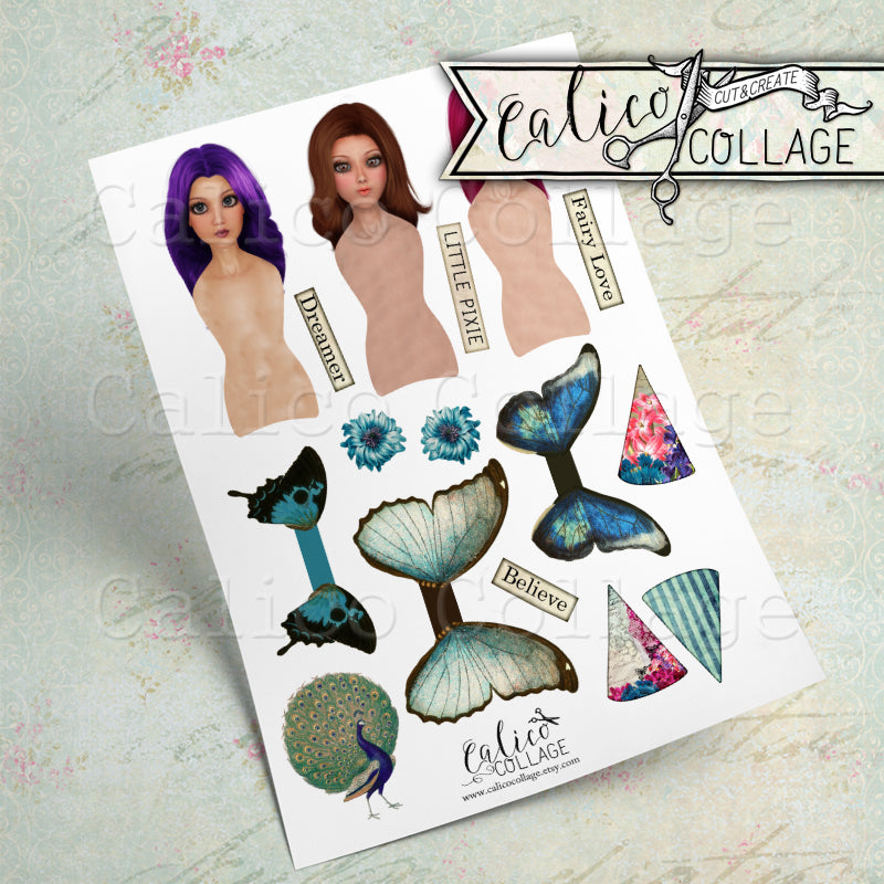 Spring Peacock Printable Paper Dolls