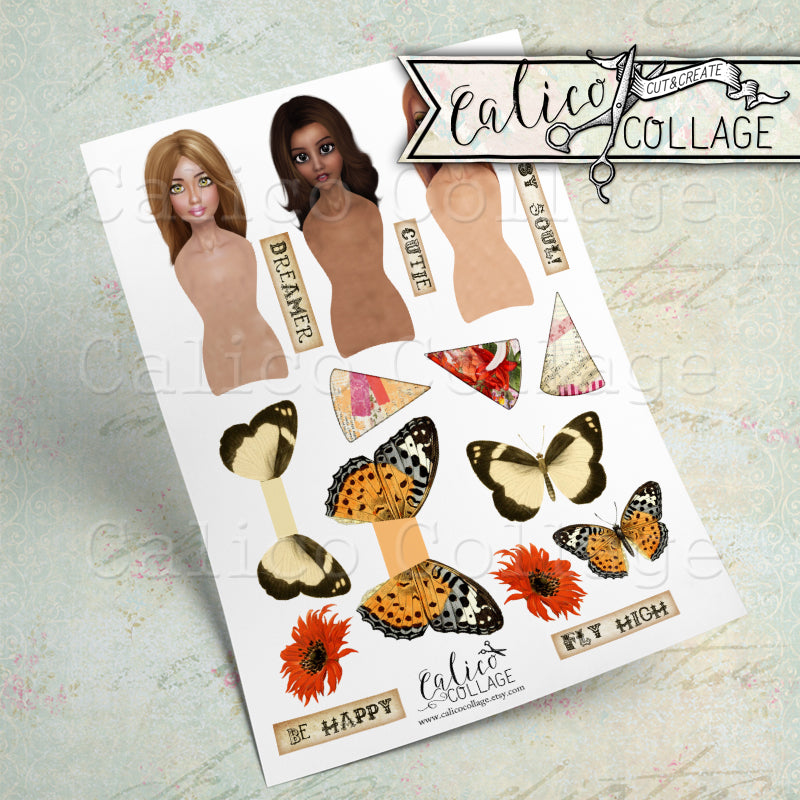 Nature's Glory Printable Paper Dolls