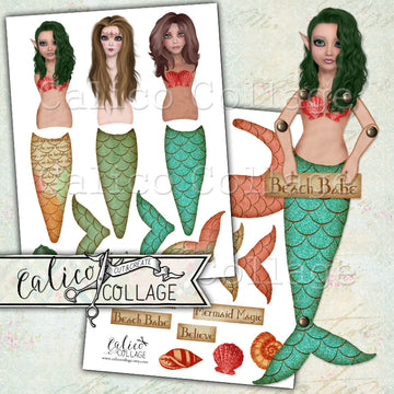 Mermaid Printable Paper Dolls