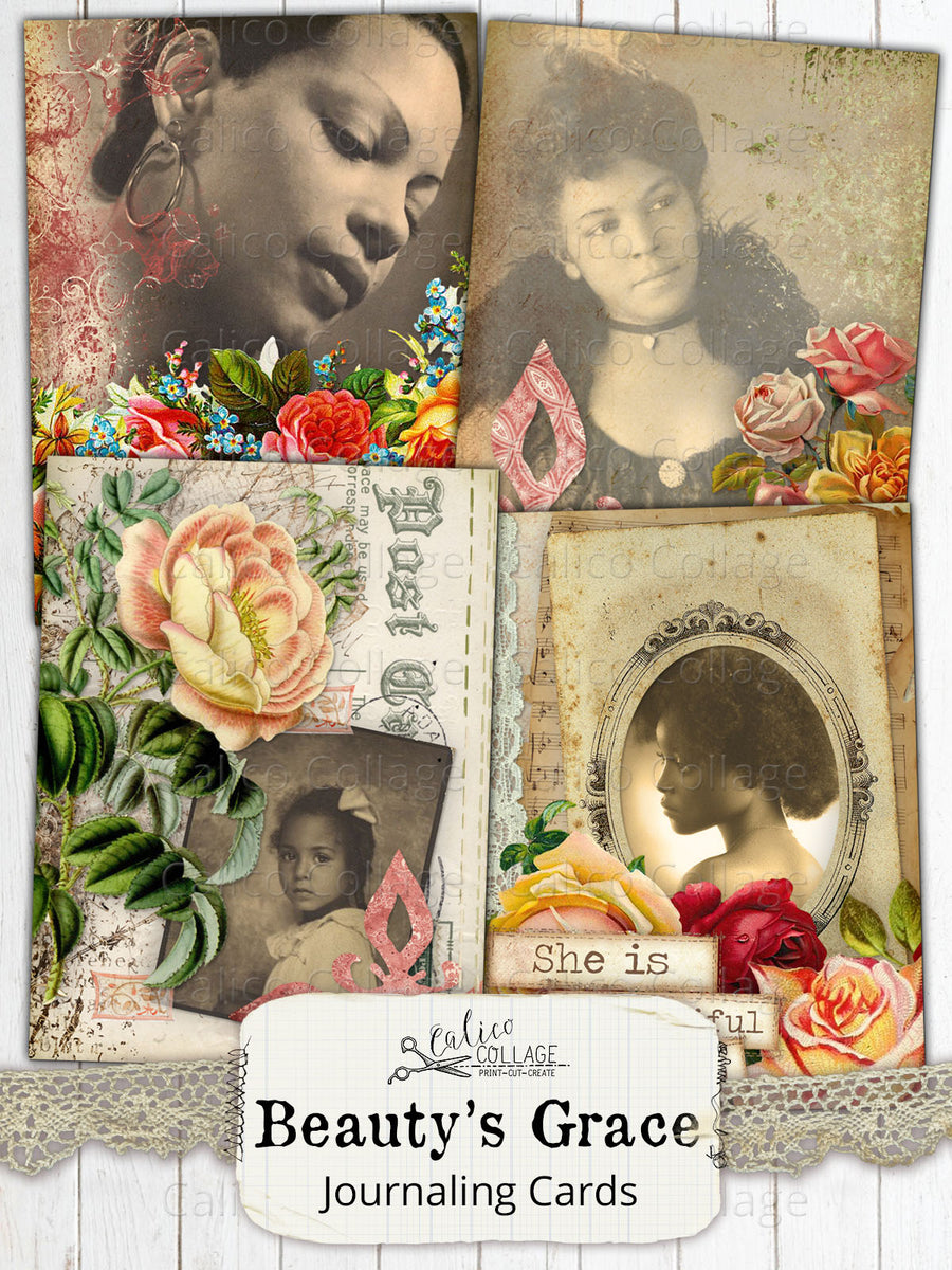 Beauty's Grace Afican American Junk Journal Ephemera