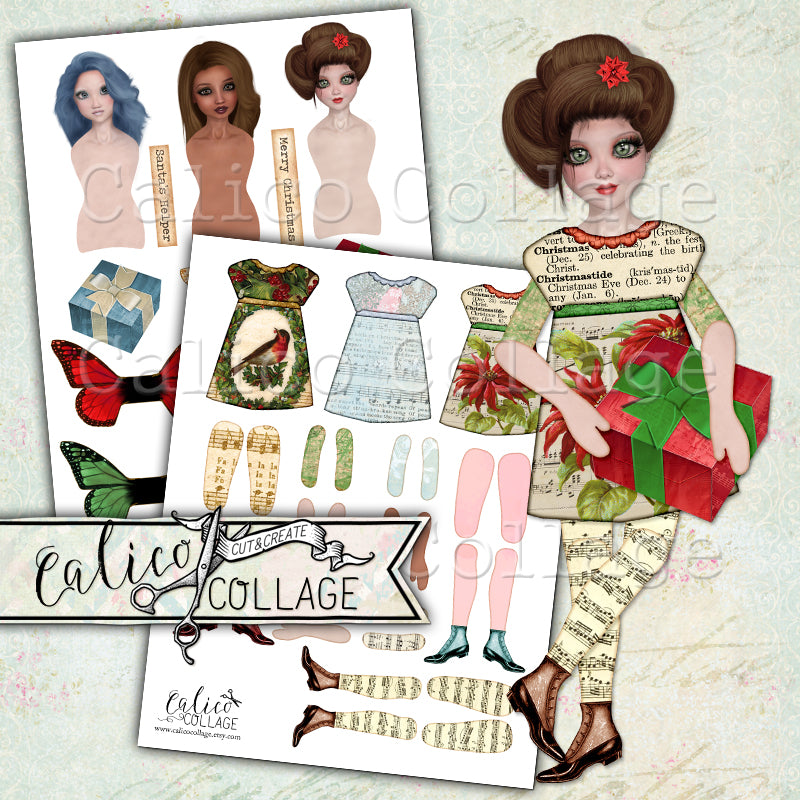 Christmas Printable Paper Dolls