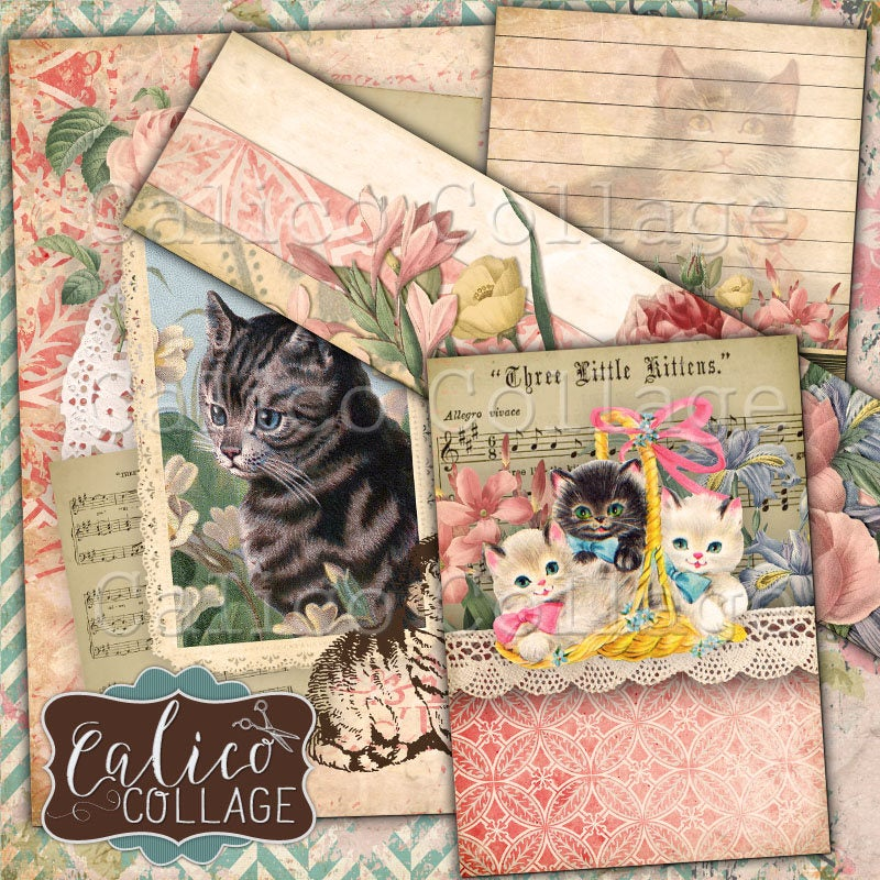 Lovable Kitties Journaling Cards