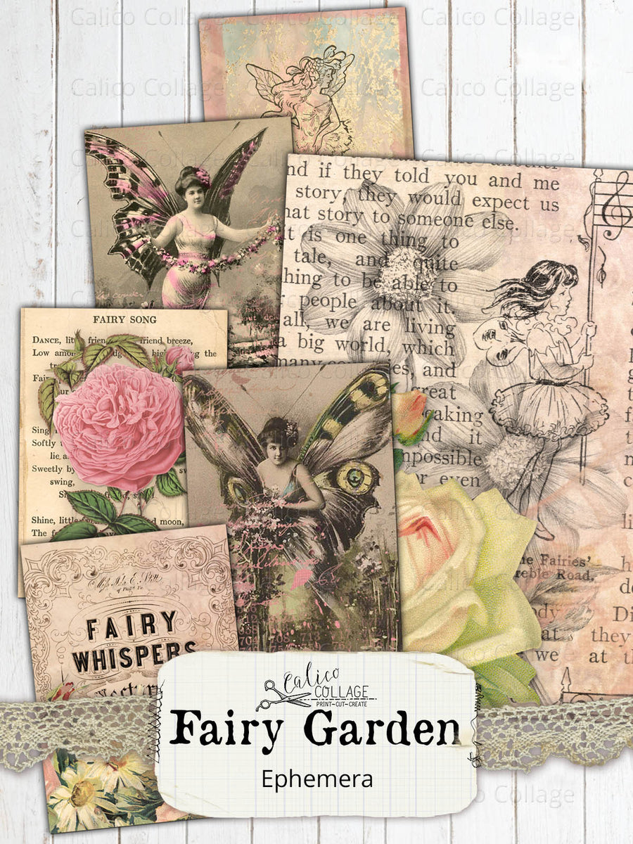 Fairy Garden Junk Journal Ephemera