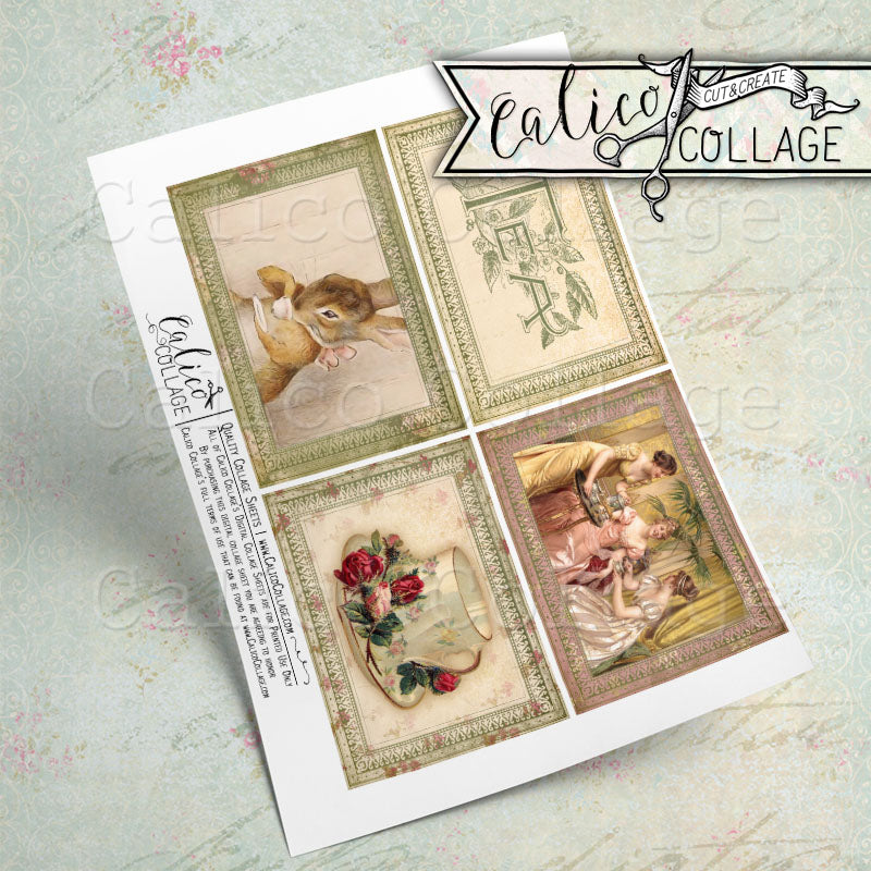 Printable Tea Ephemera Journaling Cards