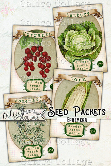 Printable Garden Fresh Seed Packets