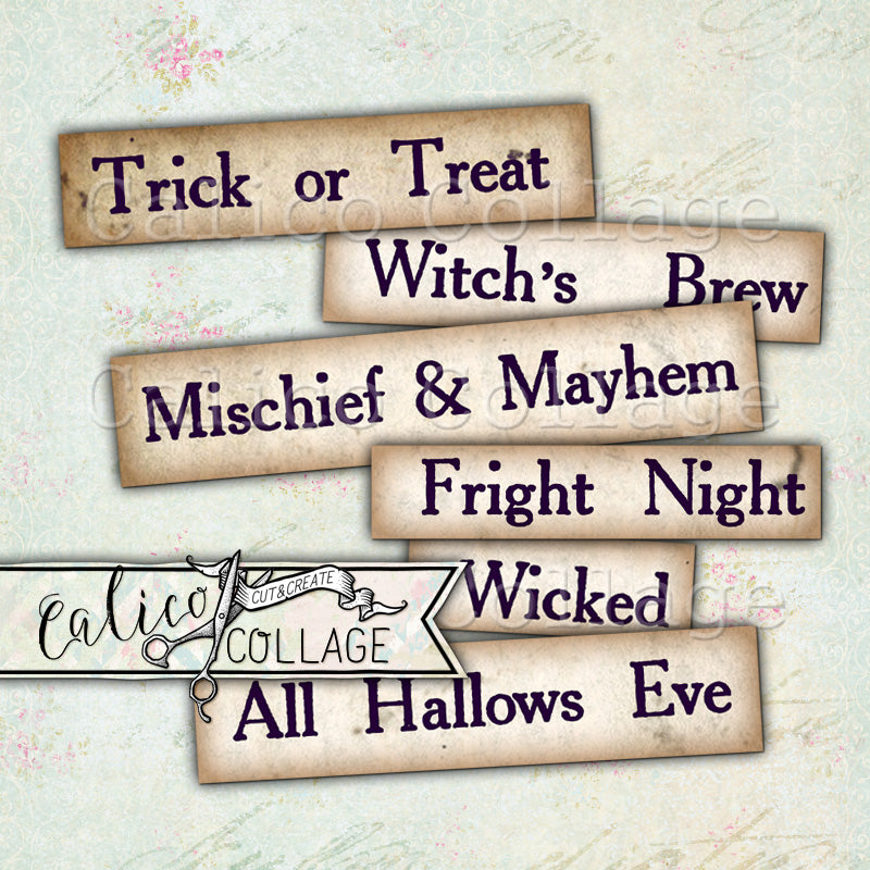 Printable Halloween Words and Sayings