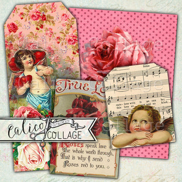 Valentine's Love Journaling Cards & Tags