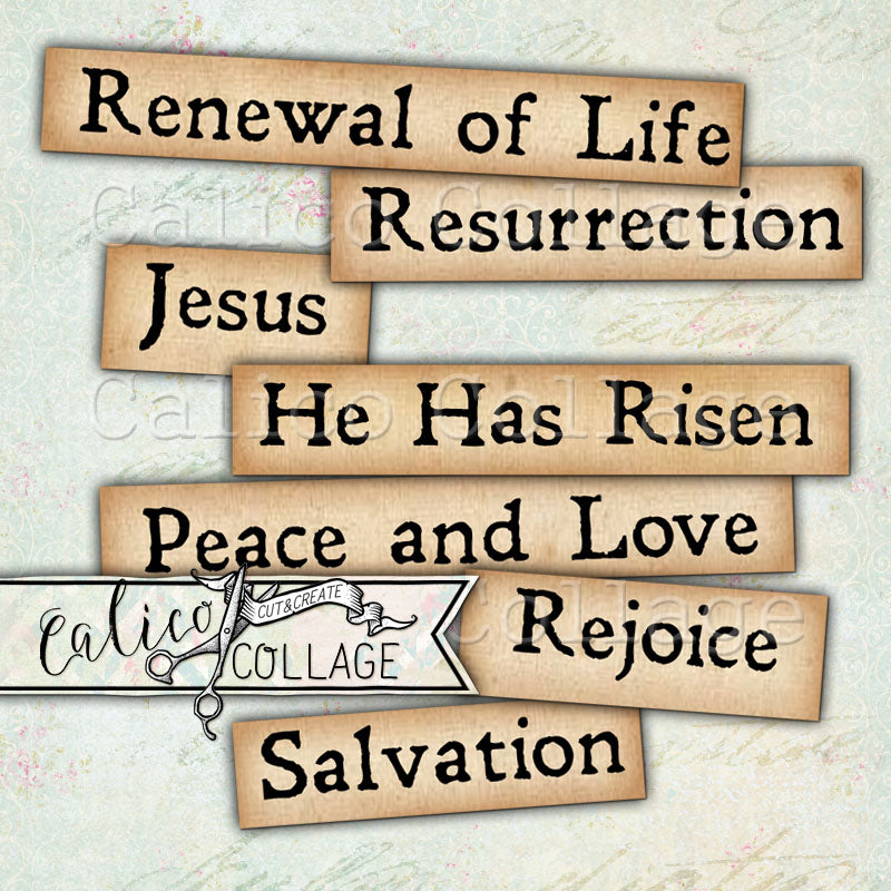 He Has Risen Printable Religious Words