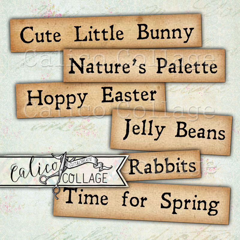 Happy Easter Printable Words and Sayings