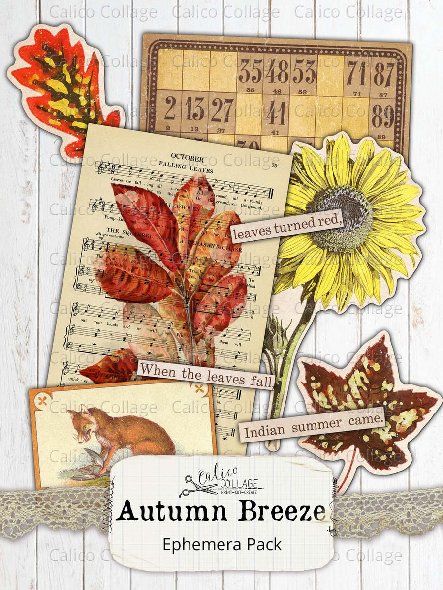 Autumn Breeze Ephemera Pack