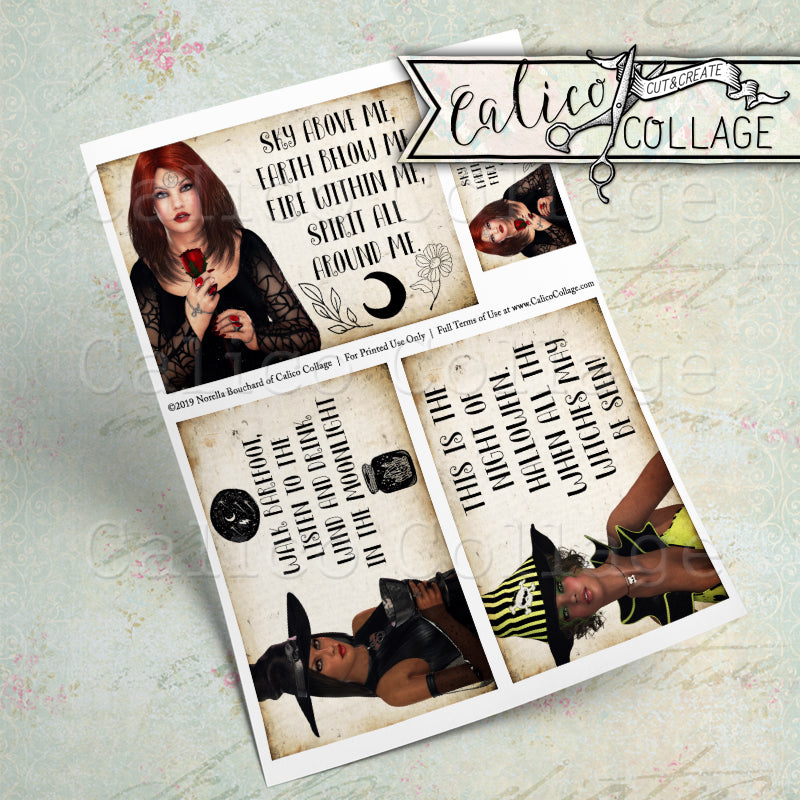 Witch Magick Printable Journaling Cards