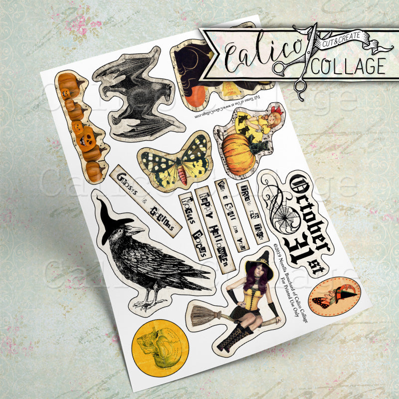 Halloween Printable Ephemera Pack