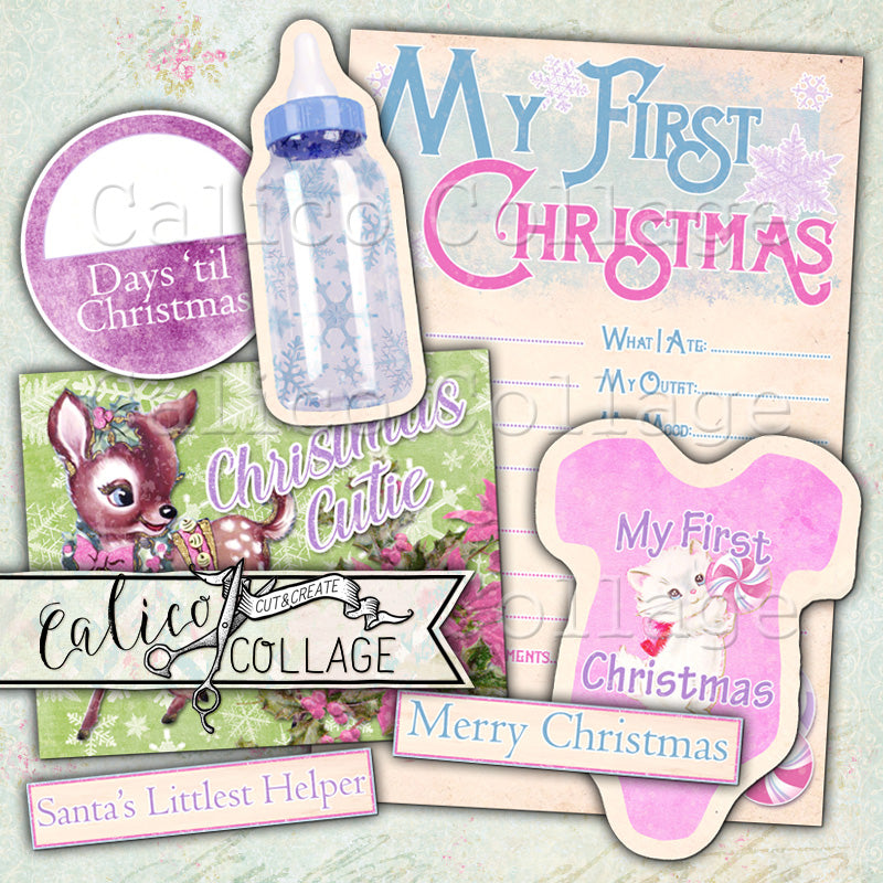 Baby's First Christmas Ephemera Pack, Candy Christmas