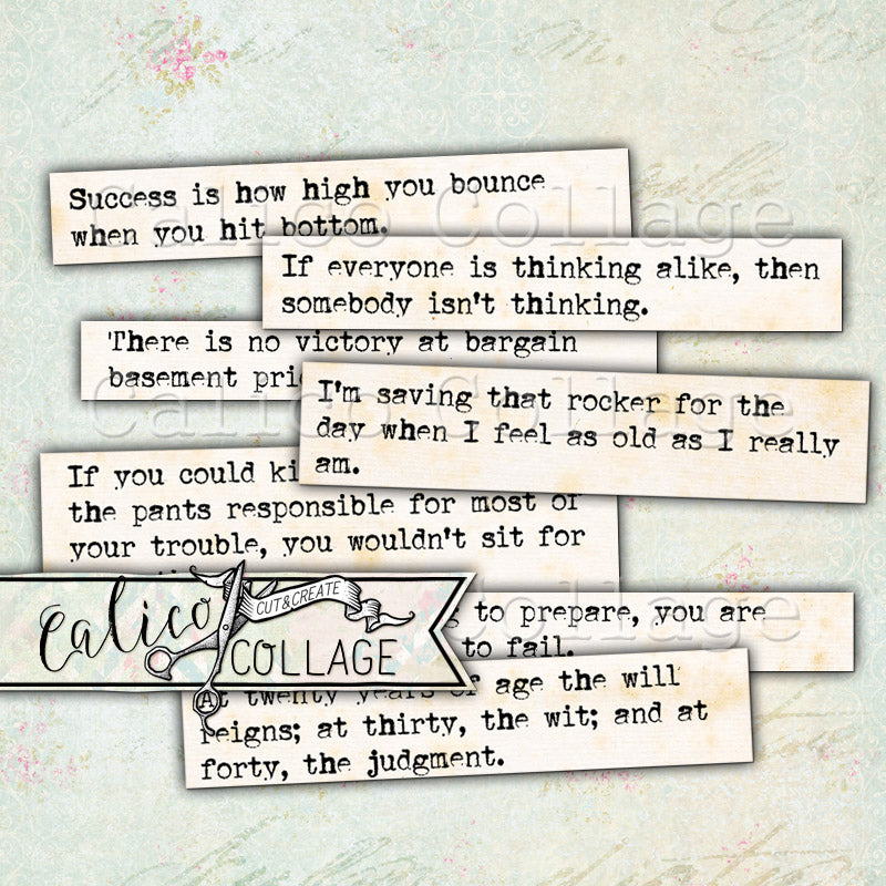 Gemtlemen Quotes Printable Mixed Media Words