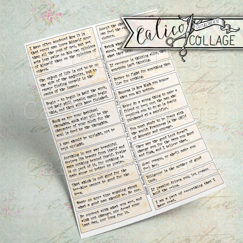 Gentlemen Quotes Printable Mixed Media Words