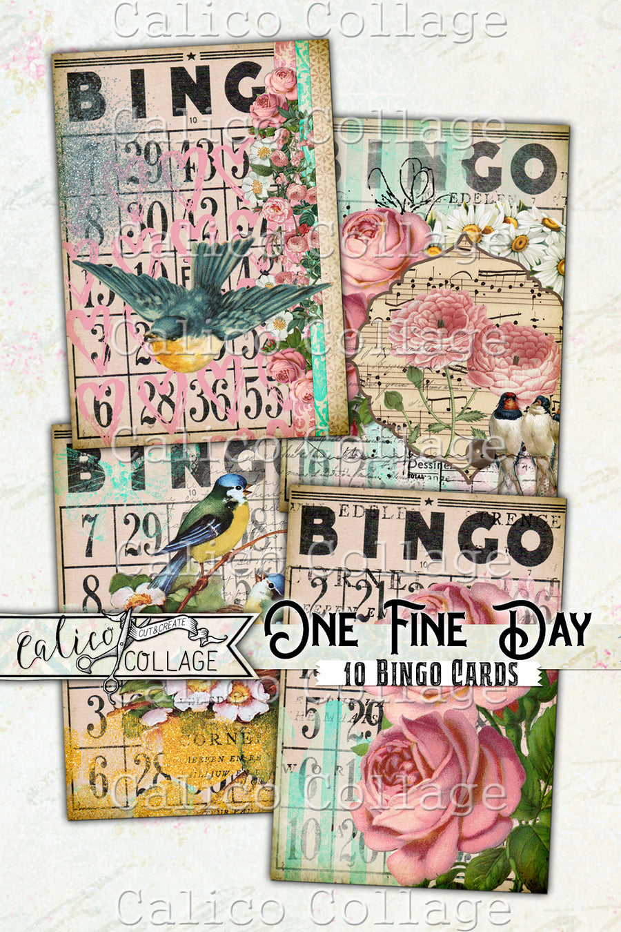 Printable Vintage Bingo Cards, One Fine Day