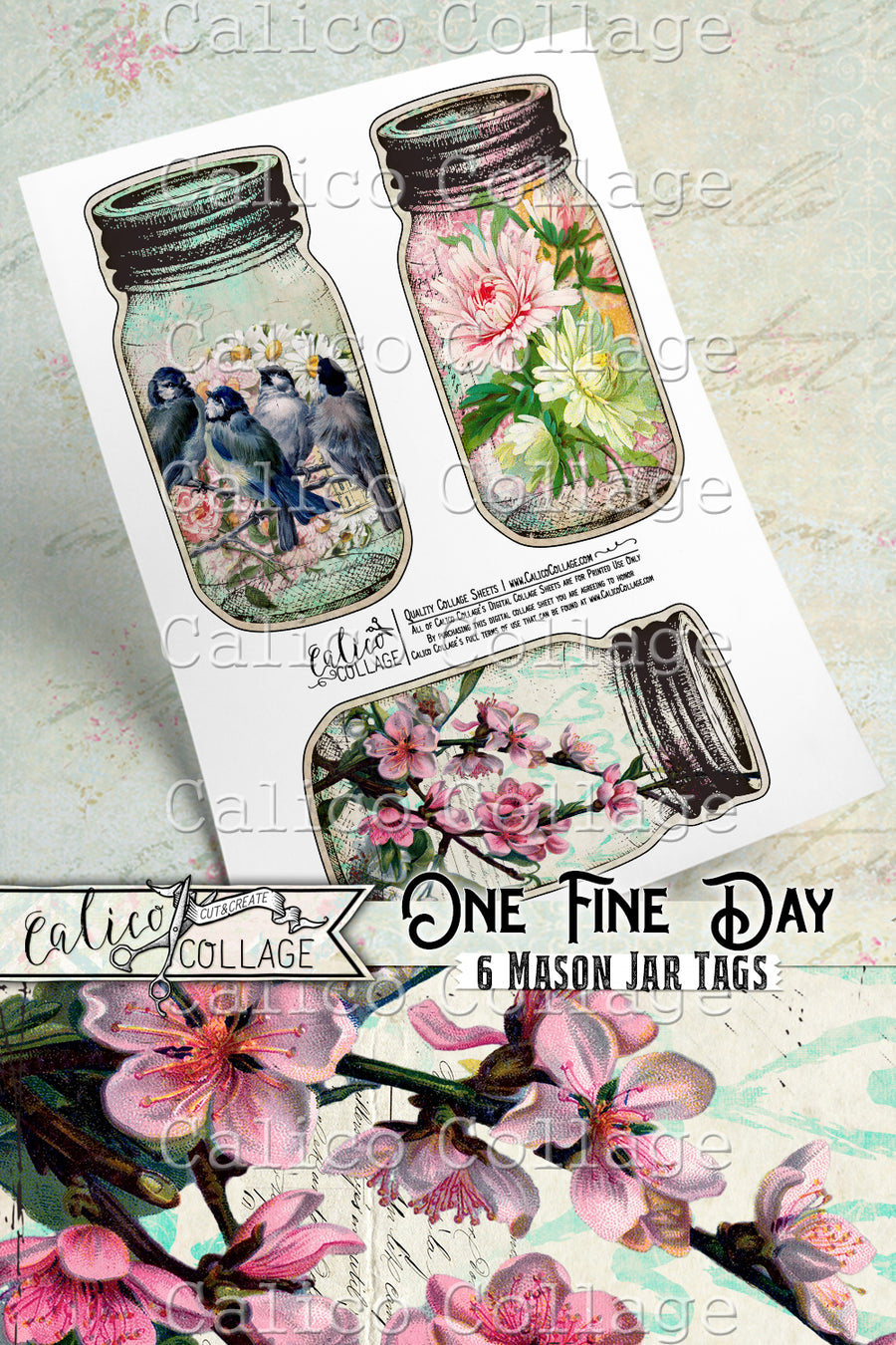 Printable One Fine Day Mason Jars