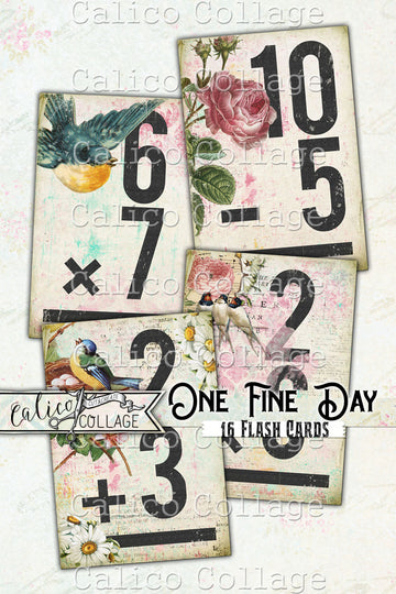 One Fine Day Printable Flashcards, Ephemera Pack