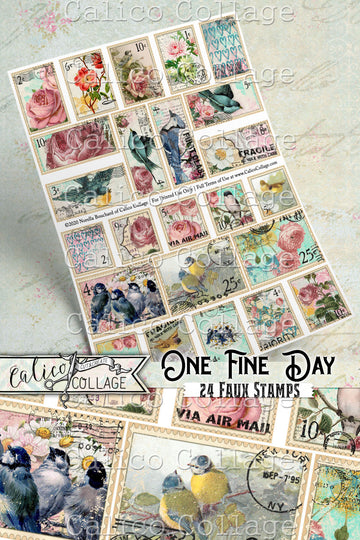 One Fine Day Printable Faux Stamps