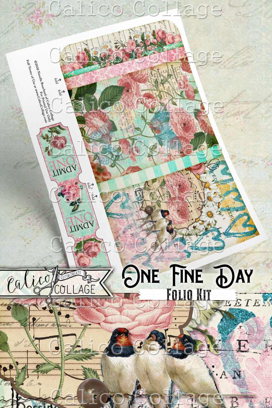 One Fine Day Junk Journal Folio Kit