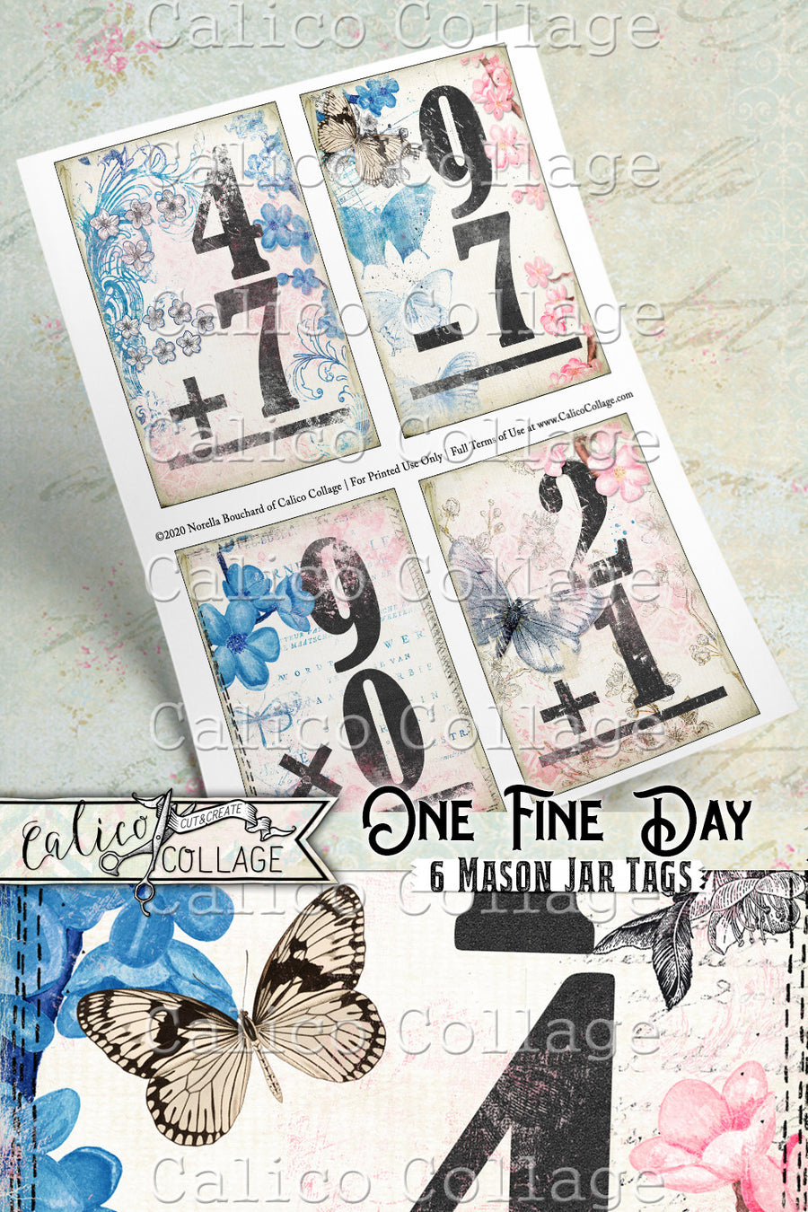 So She Did Printable Flashcards, Ephemera Pack