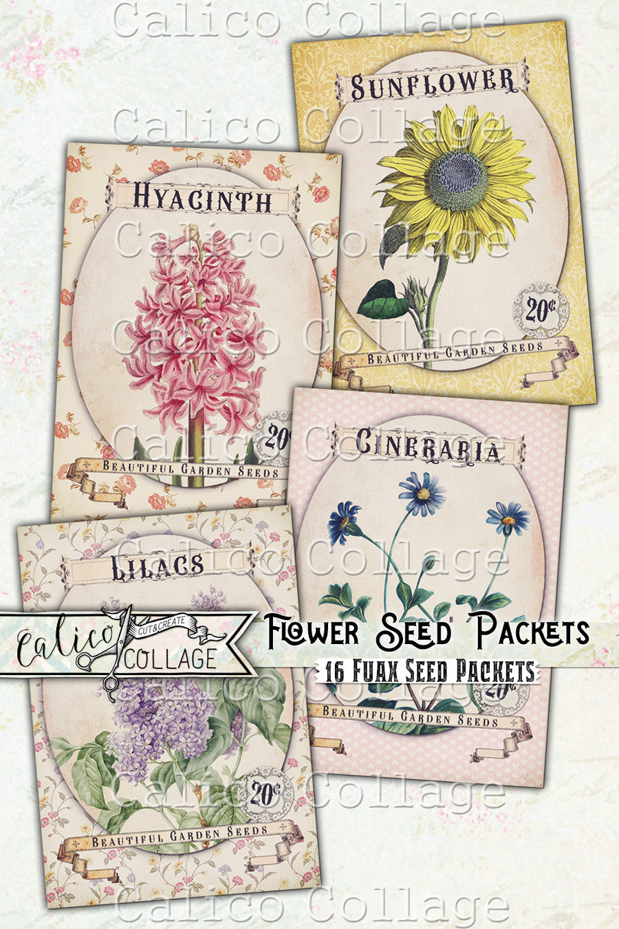Printable Flower Seed Packets