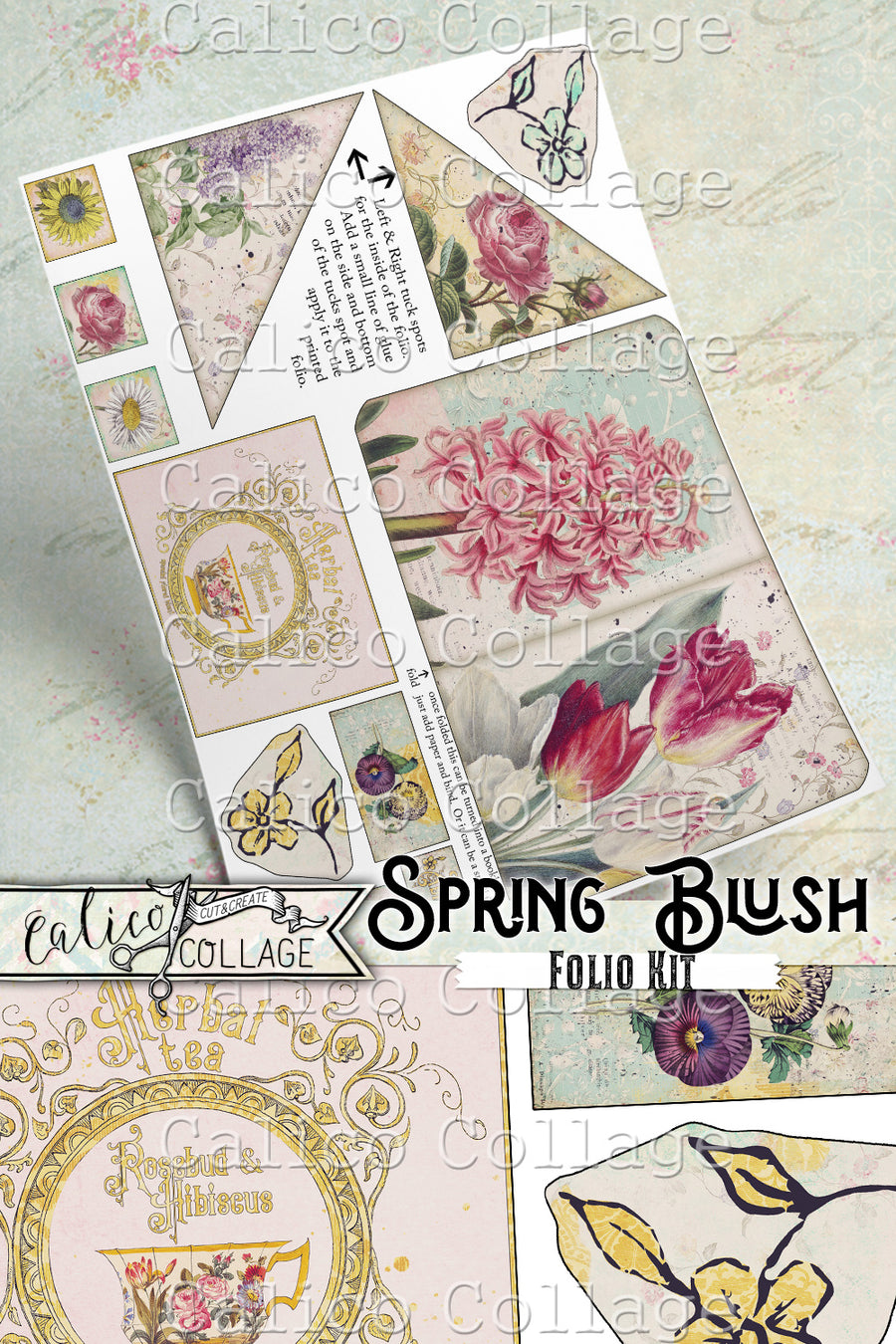Spring Blush Junk Journal Folio Kit