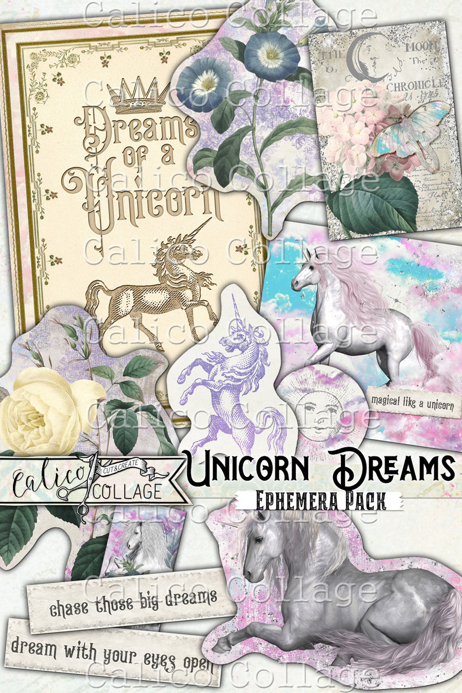 Unicorn Dreams Ephemera Pack