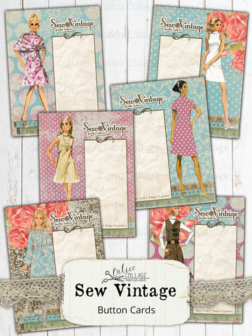 Sew Vintage Button Card Ephemera