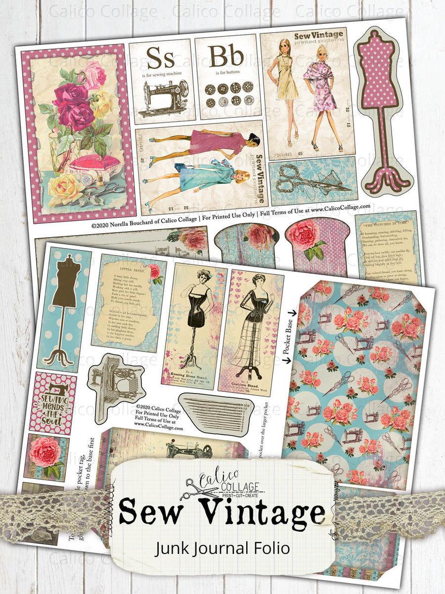 Sew Vintage Junk Journal Folio Kit
