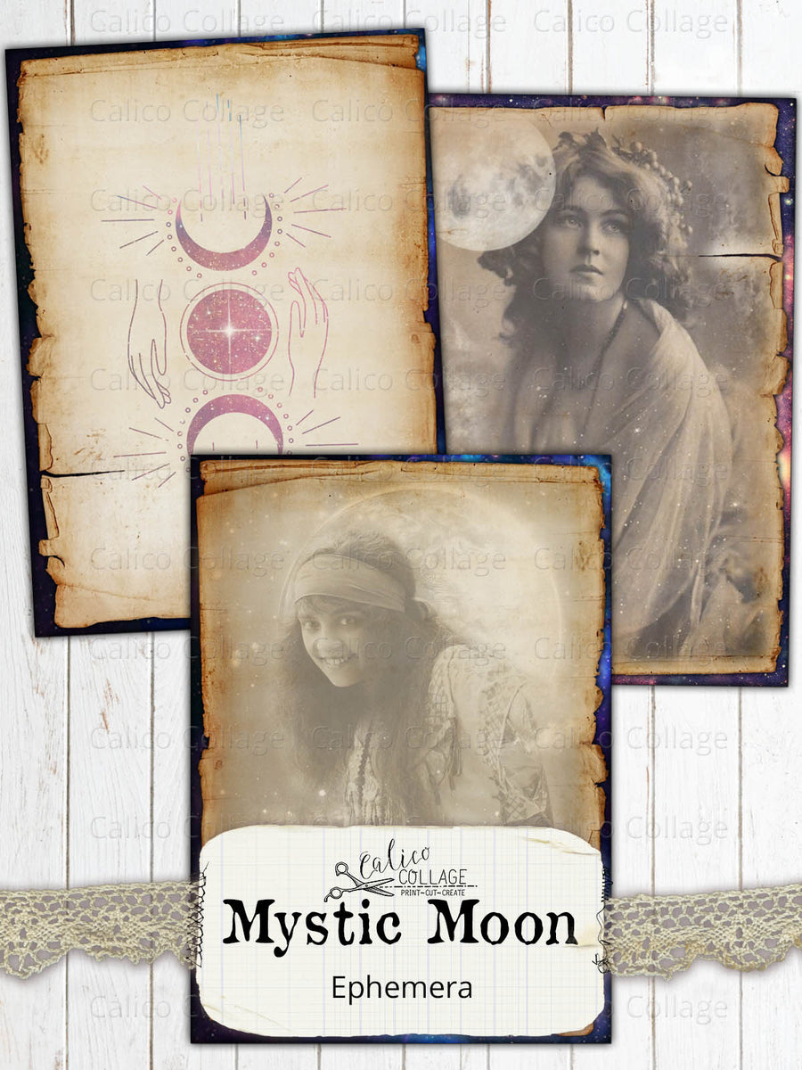 Mystic Moon Junk Journal Cards, Among the Stars