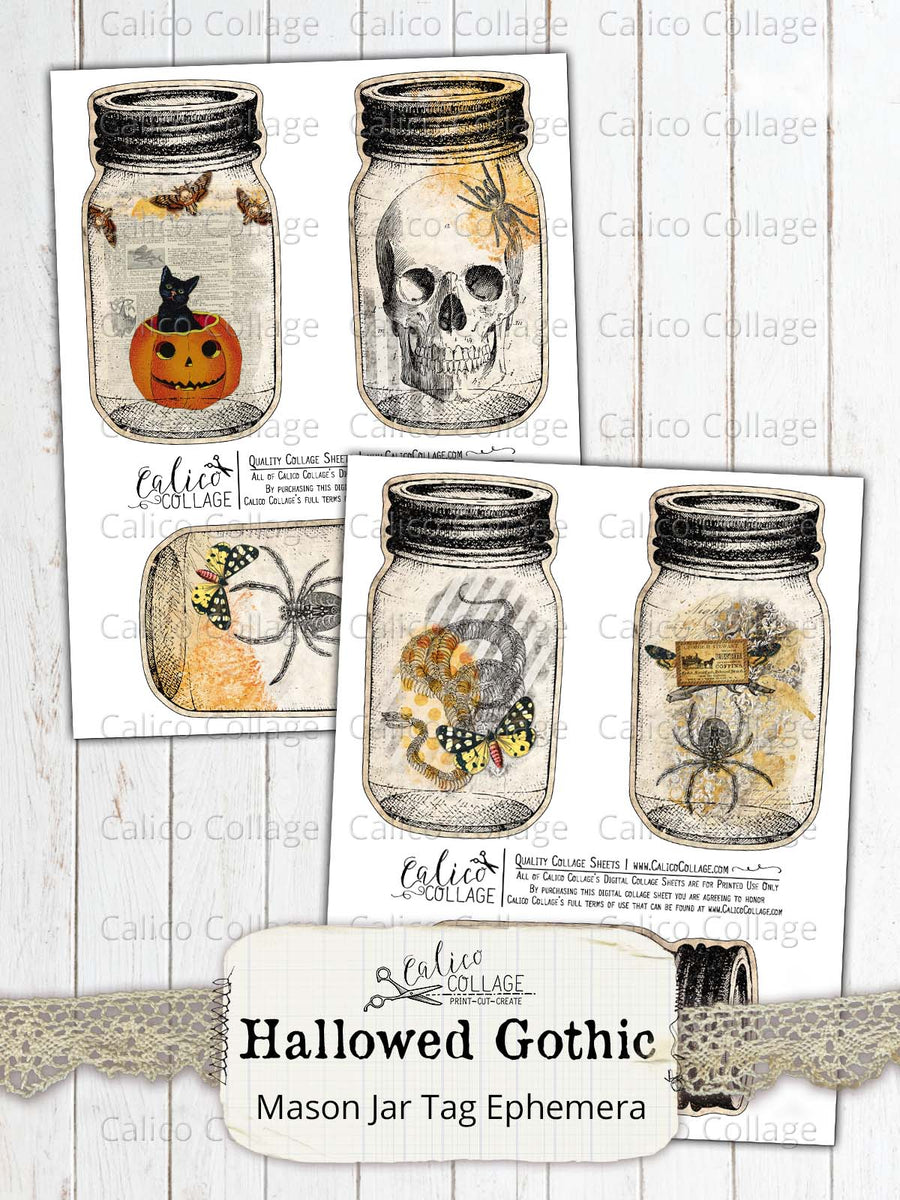 Printable Halloween Mason Jar Tags