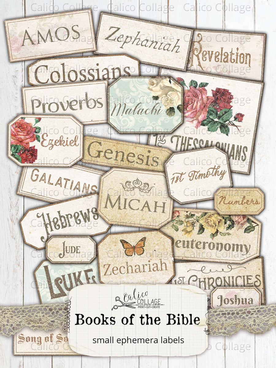 Printable Books of the Bible Labels