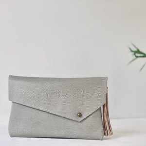 Asymmetrical Clutch Envelope Clutch with Tassel