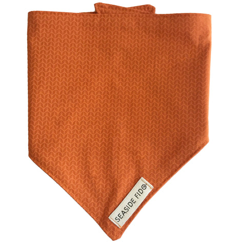 Seaside Fido Organic Dog Bandana Burnt Orange