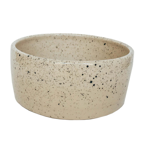 Ceramic Dog Bowl - Speckled