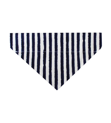 Navy & White Striped Dog Bandana