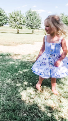 Over the Rainbow Double Skirted Twirl Dress