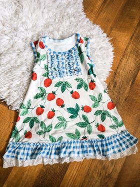 PREORDER - Strawberry Picnic Gown