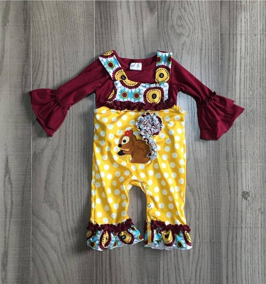 Squirrely Girl Romper