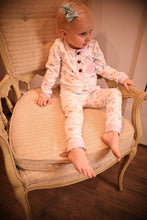 Load image into Gallery viewer, Dino Pj Pant set w/pinkpurple trim