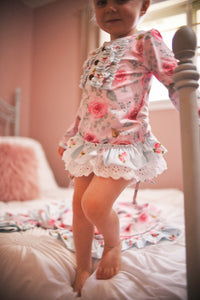 Painted Roses Tunic With Framed Roses Bloomer Set -Long Sleeve