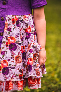 Perfectly Purple Floral Twirl Dress